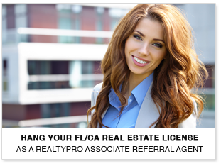 Hang your FL/CA Real Estate License