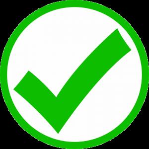 Green mark circle