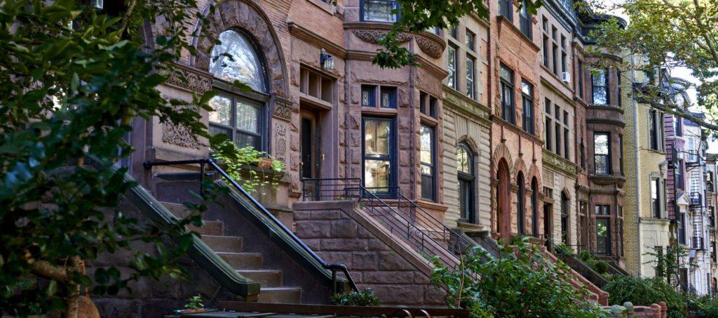 Brooklyn historic brownstone buildings